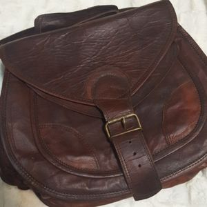 812 leather saddle bag and wallet
